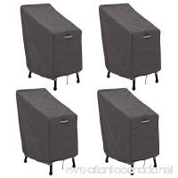 Classic Accessories 55-920-015103-4PK Ravenna Patio Bar Chair/Stool Cover 4-Pack - B079TKK4YN