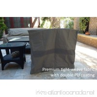 "Formosa Covers Premium Tight Weave Over sized Club Chair 40"" Wx34.5 Dx39 H in Grey - B01ENYCWJA"