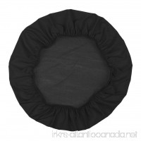 """Homyl Removable Stretchable Dining Chair Cover for Wedding Banquet Party Home Reception Decorations  for Max 50cm (20"""") Diameter Chair Stool - Black  For 35-50cm/13.8-20 inch - B07C9Z7CLW"""