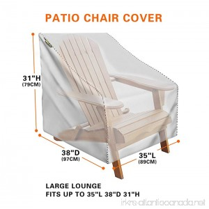 Mr.You Waterproof Patio Chair Covers for outdoor Heavy Duty For Spring Sliver No tearing No fading 5 Years Warranty L35in D38in H31in - B0776MLMYW