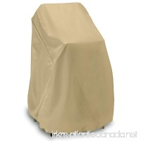 Smart Living Home and Garden 2D-PF40365 High Stack Chair Cover with Level 4 UV Protection  48-Inch  Khaki - B00CRQ6LF8