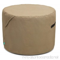 Tarra Home Universal Outdoor Round Table Cover  Large  Tan - B0728L9LVX