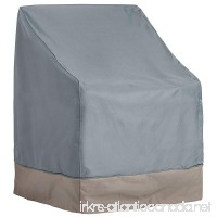 VonHaus Single Patio Chair Cover - 'The Storm Collection' Premium Heavy Duty Waterproof Outdoor Furniture Protection - Slate Grey with Beige Trim - L29.5 x W27.5 x H25-40 inches - B01H70HY0Y