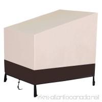 """Yaheetech Weatherproof Outdoor Wicker Chair/Furniture Cover  Regular  41"""" x 38"""" x 37''  Tan - B01MQZ71H4"""