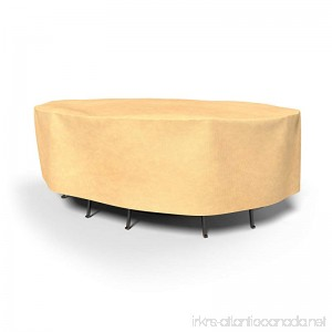 Budge All-Seasons Oval Table and Chairs Combo Cover Extra Extra Large (Tan) - B005PW0EB8