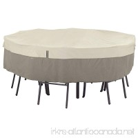 Classic Accessories Belltown Outdoor Round Patio Table & Patio Chair Set Cover - Weather and Water Resistant Patio Set Cover  Grey  Small (55-251-011001-00) - B00K4RLI5U