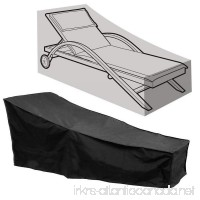 Comfysail Sun Lounger Cover Waterproof Sunbed Cover Outdoor Garden Patio Furniture with a Storage Bag Black 2087641/79cm - B07DDCQGRT