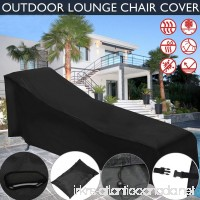 Fulstarshop Sunlounger Cover Dust Cover Waterproof Cover Outdoor Deck Chair Patio Furniture Protection - B07D8QF5XV