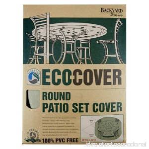 Mr. Bar-B-Q Backyard Basics Eco-Cover PVC Free Premium Round Patio Set Cover - B001V7R6F8