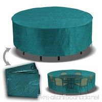 Patio Outdoor Garden Furniture Cover Winter Protector Round Square Table Chair Set-GREEN - B01B5YP9NW