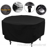 Patio Round Table and Chair Set Cover Outdoor Furniture Cover with Water Resistant and Durable Fabric 73Dia x43H - B07BDKCVFX