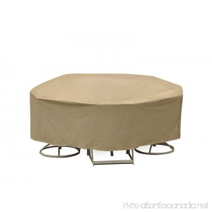 Protective Covers Weatherproof Patio Table and Chair Set Cover 48 Inch x 54 Inch Round Bar Table Tan - B00B7YLCP0