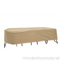 """Protective Covers Weatherproof Patio Table and Highback Chair Set Cover  Tan  Fits Oval/Rectangle tables 72""""-76 """" long - B00ATJQ9KM"""