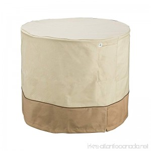 Villacera 83-DT5777 7300 Air Conditioner Cover Round Beige and Brown - B0161JDP3M