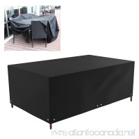 WINOMO Outdoor Patio Furniture Protector Covers Waterproof Sofa Table Chair Set Cover (Black) - B075K5TD19