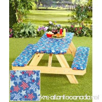 3-Pc. Picnic Table Covers (Americana Stars) - B00VGOBWBK