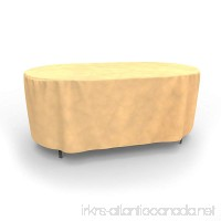Budge All-Seasons Oval Patio Table Cover Large (Tan) - B005T1HCEW