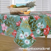 Everyday Luxuries by Newbridge Island Bloom Flannel Backed Indoor Outdoor Vinyl Table Linens  52-Inch by 70-Inch Oblong (Rectangle) Tablecloth - B07C548Y3M