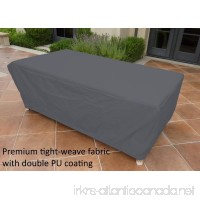 Formosa Covers Premium Tight Weave Rectangular or Oval Table Cover 84 L X 44 W X 25 H in Grey - B01ENWCGOS