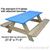 Go Granite Fitted Picnic and Banquet Table Cover Blue - B079KKP2M4