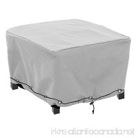 konln Patio Ottoman/Side Table Cover Rectangular Premium Outdoor Furniture Cover with Durable and Waterproof PEVA(L21 x W21 x D17inch Grey) - B075M7SJPM