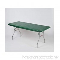 "Kwik Covers 30"" x 72"" Hunter Green Fitted Table Cover - single - B0714KHPTC"
