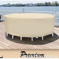 Patio Essentials Premium Heavy Duty Round Patio Table & Chair Set Cover - 84 Diameter - B0065LXHXK