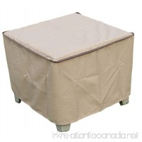 """SORARA Rectangular Coffee/Side/End Table Cover Outdoor Porch Ottoman Table Cover  Water Resistant  26""""L x 26""""W x 18""""H - B01N33OL3C"""