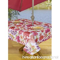 Table Cloth Outdoor Tablecloth Umbrella Tablecloth with Hole & Zipper 60 x 90 Inch Pink Floral - B07C8J351V
