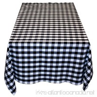Table in a Bag BW4848 Square Polyester Gingham Tablecloth  48-Inch by 48-Inch  Black and White Checkered Pattern - B00JEI4CSA