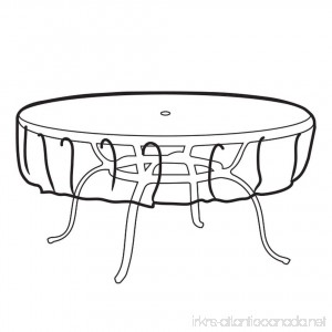 Weather Wrap Multi-Size Round Table Cover - B00KJITN2Y