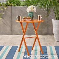 Great Deal Furniture Lucy Outdoor Bistro Table  Matte Orange - B07CWSGQCQ