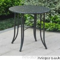 International Caravan Mandalay Black Iron Bistro Table Antique Black - B01M0YBVZT
