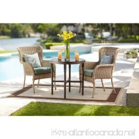 Lemon Grove Round Wicker Outdoor Bistro Table - B06XBZ84N4