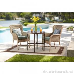 Lemon Grove Round Wicker Outdoor Bistro Table - B06XBZ84N4