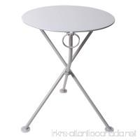 Mobel Designhaus French Café Bistro 3-leg Folding Bistro Table Grey Aluminum Frame 24 Round Metal Top x 29 Height - B00I05OTZ4