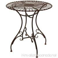 Oriental Furniture Rustic Garden Table - Rust Patina - B00H84HNMO