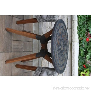 Patio Round Bistro Table 30 Inches Garden Outdoor Mosaic Stone Furniture 2 Seater - B07DP9N3BL