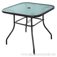 "32 1/2"" Patio Square Bar Dining Table Glass Deck Outdoor Furniture Garden Pool - B01I2TFW12"