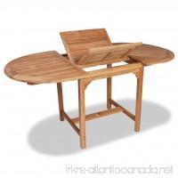 63 Outdoor Dining Table Teak Wood Patio Garden Furniture - B07F3VHCCX
