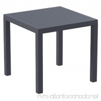 Compamia Ares Resin Square Dining Table Dark Gray - B00LI4RUKU