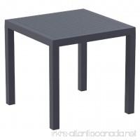 Compamia Ares Resin Square Dining Table Dark Gray - B00LI4RUKU
