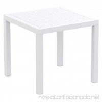 Compamia Ares Resin Square Dining Table White - B00LI4RUQE