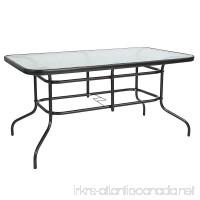 Flash Furniture 31.5 x 55 Rectangular Tempered Glass Metal Table - B07FTVZ59F