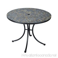 Home Styles 5601-30 Stone Harbor Slate Tile Top Outdoor Dining Table - B004MPE1NQ