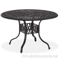 Home Styles Floral Blossom Round Dining Table  42-Inch  Charcoal - B00ATA1MRQ