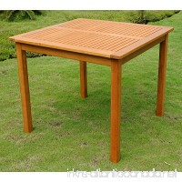 International Caravan TT-VN-0128-Tbl-IC Furniture Piece Royal Tahiti Outdoor Wood 32 Square Table - B003AVAIVW