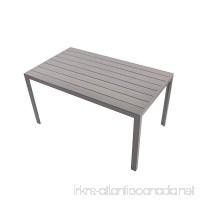 "KARMAS PRODUCT Patio Dining Table Outdoor Aluminum Rectangle Table All Weather Resistant Size 55.1""L X 31.5""W X 28.3""H Gray - B07FFSSPV9"