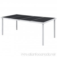 LicongUS Outdoor Dining Table Black Dining Table Patio Dining Table Dimensions: 74.8 x 35.4 x 29.1 (L x W x H) - B07FTBGX92