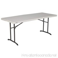Lifetime 80382 Commercial Fold-In-Half Table  6-foot  Almond - B00R8E1CP8